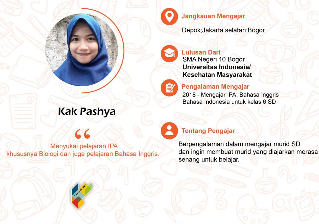 guru les privat matematika, IPA, Fisika, Kimia, IPS, Geografi, Sosiologi, Bahasa Indonesia, Bahasa Inggris.